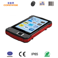 Industrial Android Fingerprint RFID barcode hanheld pda with wifi,bluetooth,3g,gps