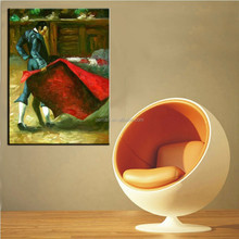Most Popular Abstract Handmade Spanish Man Bullfighting Oil Painting