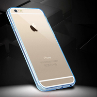 ultra-thin transparent hard silicone back tpu bumper case for iphone 6/6S