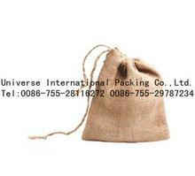 2012 Eco gift jute bag,Jute drawstring pouch