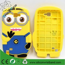 Cute Cartoon Despicable Me 3D Minions Silicone Phone Case Cover For Samsung Galaxy Note 1 N7000 i9220