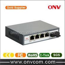 5 port 10/100M smart Poe Switch with 1uplink Port 802.3at(ONV-POE31004P-at)