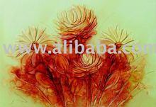 flowers painting, textured on canvas, handmade ,exclusive brazilian art