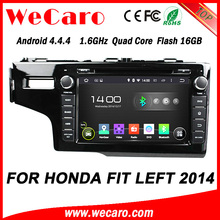 WECARO FACTORY Most Popular Quad Core Android Car Dvd Gps for Honda Fit