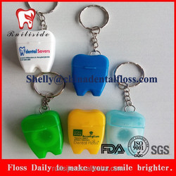 manufacturing keychain tooth shape dental floss