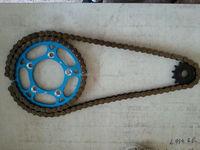 motorcycle aluminum chain sprocket set;motorcycle aluminum sprockets