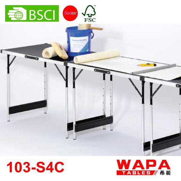 3 height adjustable wallpaper pasting folding table buy. Black Bedroom Furniture Sets. Home Design Ideas
