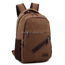 wholesale canvas school backpack /canvas laptop backpack for men