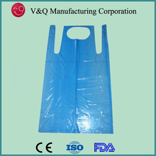 Food industry 71x117cm Blue LDPE or HDPE Disposable Promotional Apron