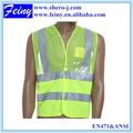 verde eni471 hi vis reflexiva uniforme de chaleco de seguridad con la identificación del bolsillo