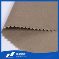 Free Sample Cotton Spandex Satin Fabric Kaki Color for Lady Pants Good Stretch Manufacturer Competitive Price