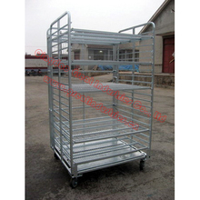 TC4843, Foldable Roll Container ,foldable trolley,danishe trolley,display flower trolley,plant trolley,flower display trolley,
