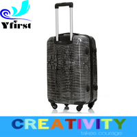 crocodile leather printing design fabulous quality World top 500 ODM Factory Sale abs pc trolley case travel luggage bags