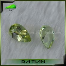 Wholesale Good Quality Green Pear Cut Bulk Stock Peridot Stones