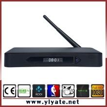 Metal tv box T10 set top box Amlogic S812 Alunminum case h 265 Quad core Android 4.4 TV Box