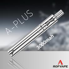 Latest best 2015 summer Rofvape A Plus starter kit 3000mah sub ohm rba tank private label vaporizer pen