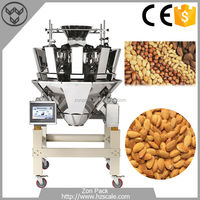 Vertical Form Fill Seal Nuts Packing Machine With Combination Multihead Weigher