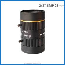 8MP 2/3'' 25mm f1.4 machine vision lens C Mount manual iris industrial camera lens