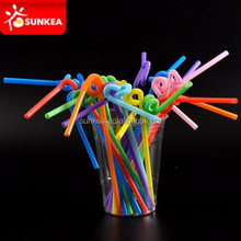 Long thick plastic flexible folding drinking straw