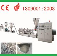 Wood plastic parallel twin-screw granulate machine, crusher type WPC pelletizing machine