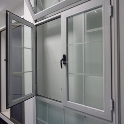 foshan zestop factory wholesale aluminium double casement sash window