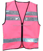 18 years hi-vis pink safety vests ansi with zipper