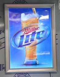 Slim advertising poster movie led light frame advertising aluminum backlit led movie poster frame