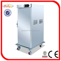 stainless steel food warmer cart/food warming cabinet with wheels/food trolley cart DH-21