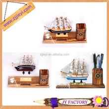 Đồ chơi bằng gỗ hình tàu thuyền gỗ thủ công quà tặng thủ công để trang trí giáng sinh