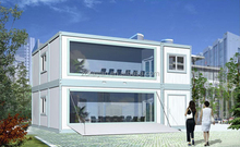 Removable restaurant/ solar house/ mobile container
