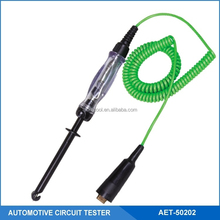 12V Automotive Circuit Tester With Hook Heavy Duty Probe, Retractable Wire, LED Light Indicator&Audible Buzzer, 2 in 1