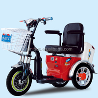 3 Wheel Adults Electric Mobility Dining Tricycle With Sunny Roof