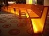 Translucent Acrylic Plastic Honeycomb Panel Curved Led Bar Table