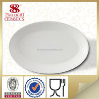 Wholesale restaurant dinner plates Ceramic plate fish serving plate