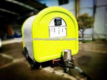 calle de perritos calientes móvil máquina expendedora conveniente carrito de comida comida remolque