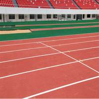 Synthetic rubber running track paint
