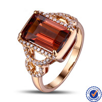 New Arrival Luxury Natural Tourmaline 18K Gold Pink Tourmaline Ring