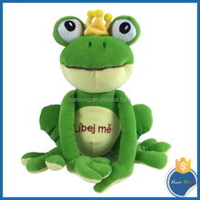 Plush Plush Lovely Sitting Dreaming Eyes Frog Toy Stuffed frog doll