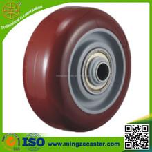 Small PU wheels with ball/derlin/plain bearing
