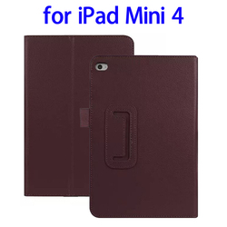 Newest Products 2 Folding Flip Leather for iPad Mini 4 Leather Case