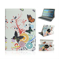 New Arrival Pretty Butterflies Flip Standing PU Leather Case For Samsung Galaxy Tab S 10.5 T800