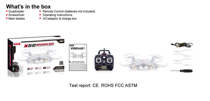 Syma X5C RC Quadcopter With 720p HD camera,2.4GHz 6 Axis 4CH Remote Control quadcopter