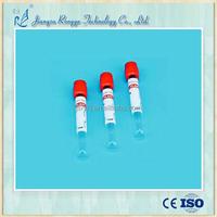 Glass/PET disposable medical vacuum plain blood collection tube