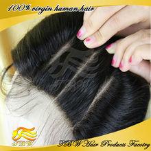 5A Grade european Virgin human Hair 3 way part closure Lace Top body wave