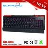 Macro metal plate led backlit usb gaming keyboard with 5 programmable keys