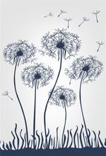 let dandelion fly designer wallpaper tv background wallcovering for home decoration
