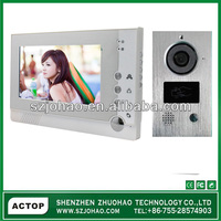 ACTOP Multi languages wire 7inch video doorbell,security digital doorbell camera with photo memory for villa