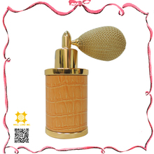Popular released pattern on leather parfum vaporisateur natural spray