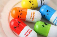 Decorative Plastic short Capsule Vitamin Ballpoint Pen