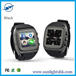 watch wifi bracelet bluetooth 4.0 for android 4.4, GPS, GSM, Camera and pedometer sleep monitor smart watch